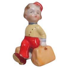 Redcap Bellhop with Luggage Salt & Pepper Single Shaker