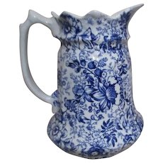 James Kent Old Foley Staffordshire 18th Century Chintz Pitcher