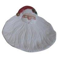 Fitz & Floyd Christmas Ceramic Santa Serving Plate