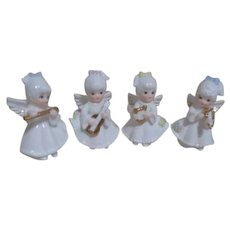 Lefton Set of 4 Musical Angel Figurines