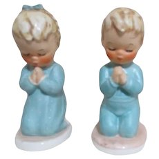 Goebel Pair of Praying Children Bless Us and A Child's Prayer
