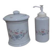 Princess House Set Soap and Lidded Container