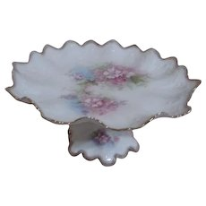 Nice Beautiful Vintage Flower Shaped Dish With Branch & Flower Handle Made In England Other Decorative Collectibles