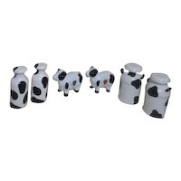 3 Sets of Black and White Cow Themed Salt & Pepper Shakers