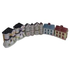 3 Sets of House Salt & Pepper Shakers