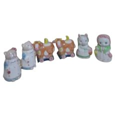 3 Sets of Salt & Pepper Shakers All animals