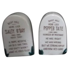Salty O'Day & Pepper Tate Boot Hill Salt & Pepper Shakers