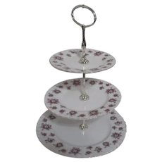Royal Albert Sweet Violets 3 Tiered Serving Tray