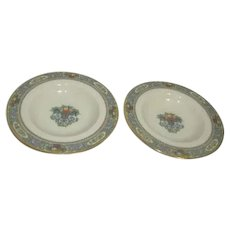 Lenox Autumn Pattern Set of 2 Rim Soup Bowls