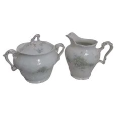 Johnson Brothers Pattern JB1277 Royal Semi Porcelain Cream and Sugar
