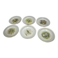 Set of 6 Bing & Grondahl Copenhagen Porcelain Decorative Plates