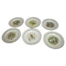 Set of 6 Bing & Grondahl Copenhagen Porcelain Decorative Plates
