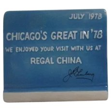 Jim Beam Regal China Convention Advertising Pen Holder 1978