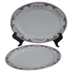 Royal Bayreuth 2 Platters Corona Pattern