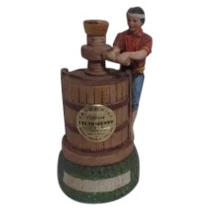 Brookside Vineyard California Cream Sherry Bottle Vintner with Winepress