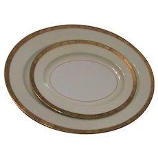 Noritake 2 Platters Goldkin Pattern