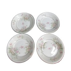 Set of 4 Theodore Haviland Dessert/Fruit Bowls Apple Blossom Pattern