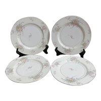 Theodore Haviland Apple Blossom Dinner Plates Set of 4