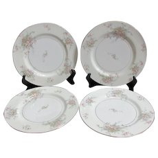 Theodore Haviland Apple Blossom Dinner Plates Set of 4