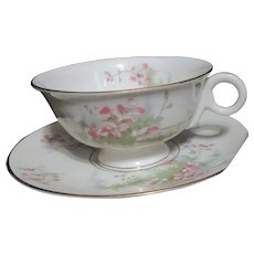 Theodore Haviland Apple Blossom Cup and Saucer