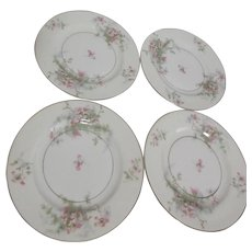 Theodore Haviland Apple Blossom Dessert or Bread & Butter Plates Set of 4