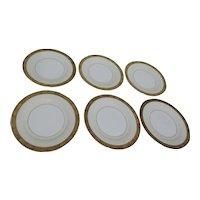 Noritake Goldkin Pattern Set of 6 Dessert or Bread & Butter Plates