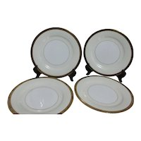 Noritake Goldkin Pattern Set of 4 Dinner Plates