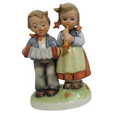 Hummel Boy and Girl with Musical Instruments Birthday Serenade