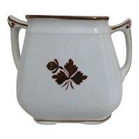 Alfred Meakin Tea Leaf Pattern Sugar Bowl -No Lid