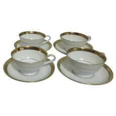 Noritake Goldkin Set of 4 Cups and Saucers