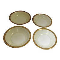 Noritake Goldkin Pattern Set of Soup Bowls