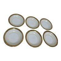 Noritake Goldkin Pattern Set of 6 Dessert/Fruit Bowls
