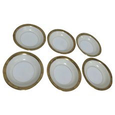 Noritake Goldkin Pattern Set of 6 Dessert/Fruit Bowls