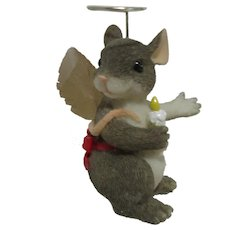 Fitz & Floyd Charming Tails Angel of Light Figurine