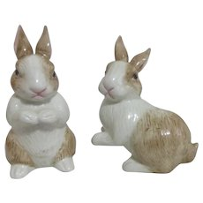 Fitz & Floyd Bunny Rabbit Salt & Pepper Shaker Set