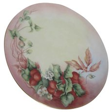 Bavarian Round Platter Strawberry Decoration