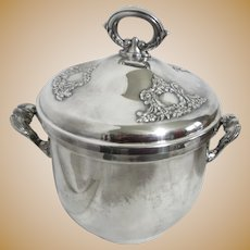 Oneida Silver Plated Glass Lined Ice Bucket