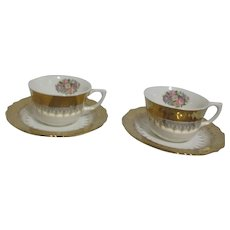 Vogue Lido VOG105 Pattern Set of 2 Cup and Saucer