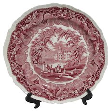 Mason's Vista Ironstone China Chop Plate