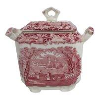 Mason's Vista Ironstone China Covered Sugar Bowl
