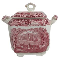 Mason's Vista Ironstone China Covered Sugar Bowl