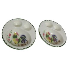 Set of 2 Egg and Oatmeal Dishes