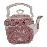 Mason's Vista Ironstone China Teapot Red & White