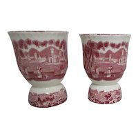 Mason's Vista Ironstone China Double Egg Cup Set of 2