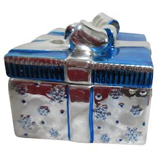 Blue & Silver Ceramic Box for Sweets