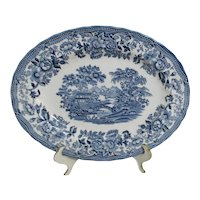 Churchill Blue Willow Pattern Platter without Love Birds