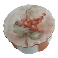 Signed Hand Painted Ceramic Powder or Trinket Box