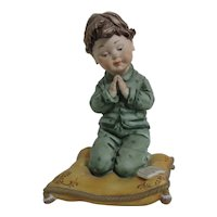 Viertostin Capodimonte Praying Boy Sculpture
