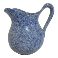 Blue and White Spongeware / Spangleware Small Milk Pitcher