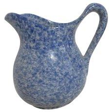 Blue and White Spongeware / Spangleware Small Milk Pitcher